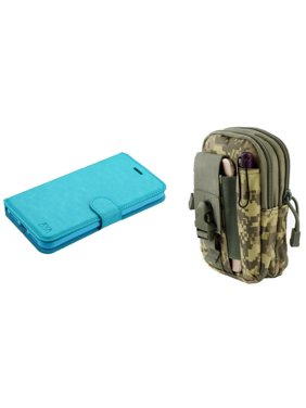 0932c04e21 Product Image MyJacket Synthetic PU Leather Magnetic Flip Cover Wallet Case  (Baby Blue) with ACU Camo