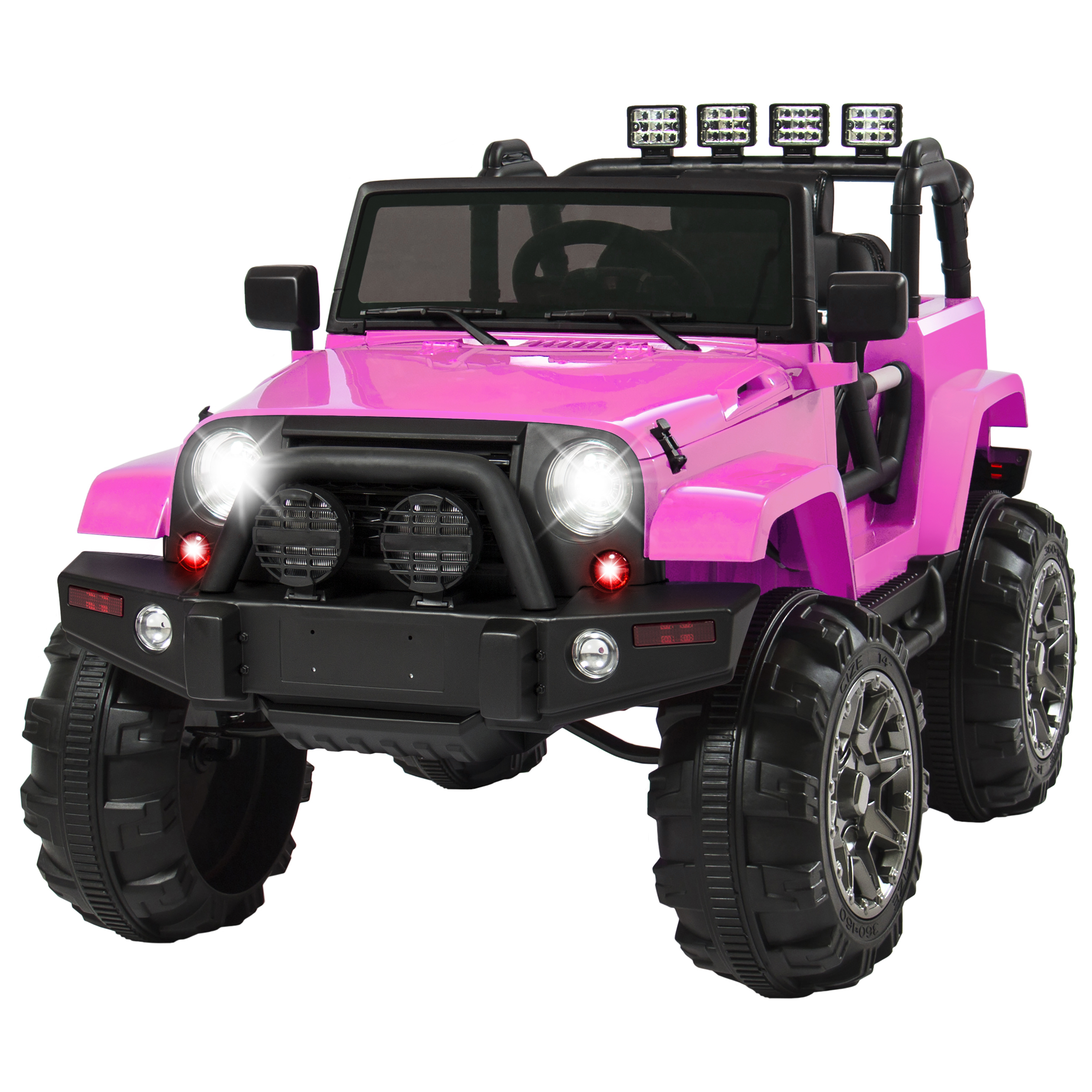 Best Choice Products 12V Ride On Car Truck w  Remote Control, 3 Speeds, Spring Suspension, LED Lights Pink by
