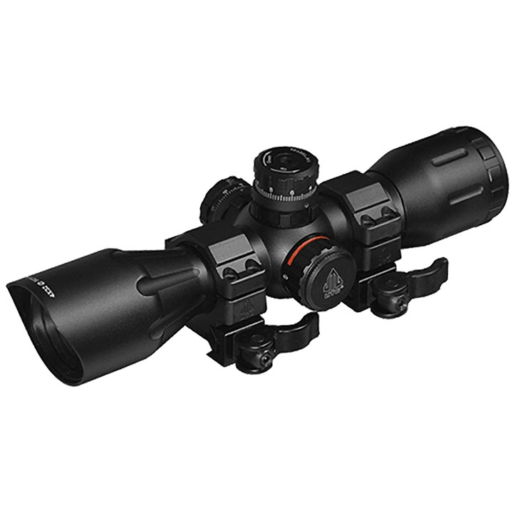 4x32 Rgb Reticle Qd Rings Tactical Rifle Scopes Airsoft Riflescope Black by UTG