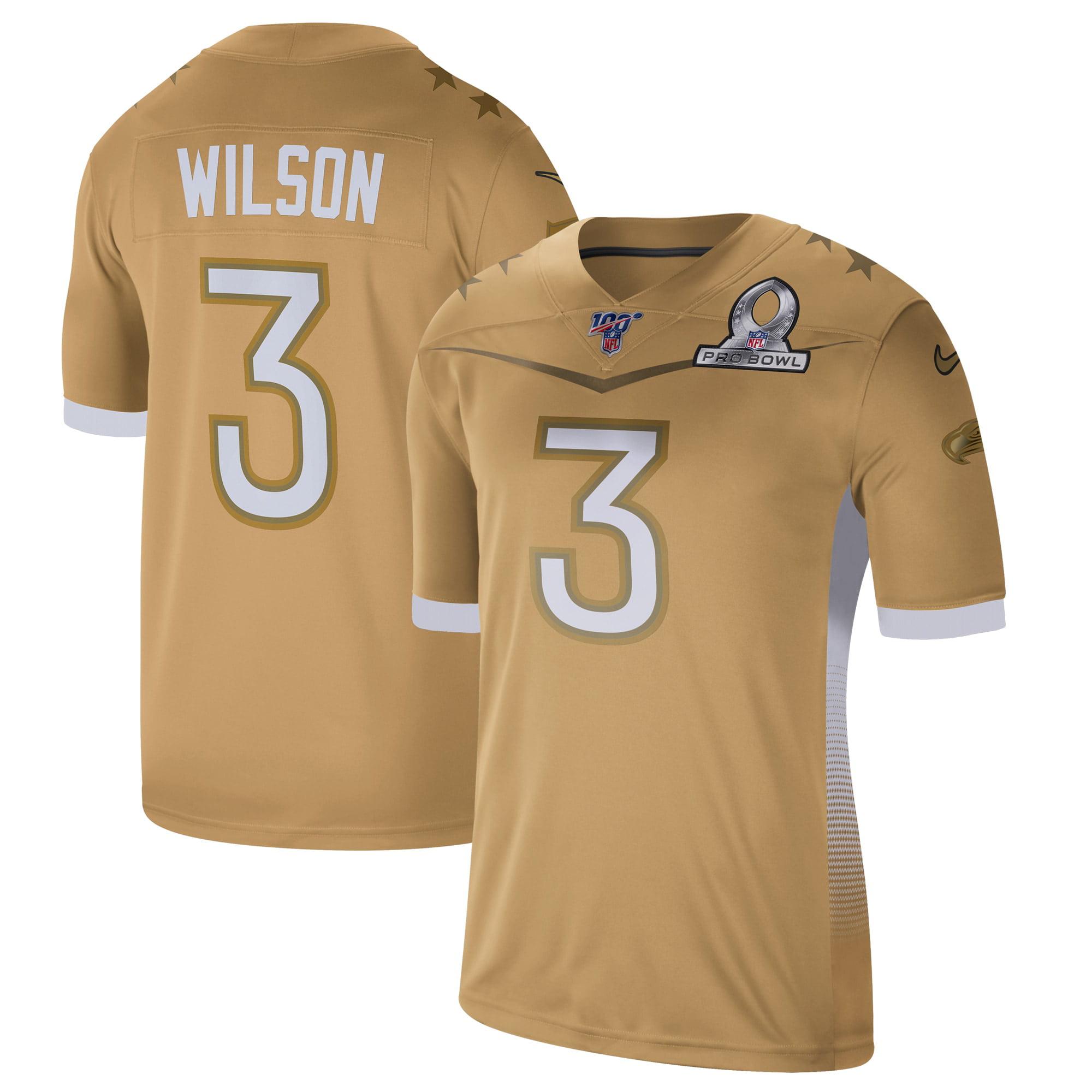 Russell Wilson Nike 2020 NFC Pro Bowl Game Jersey - Gold - Walmart ...