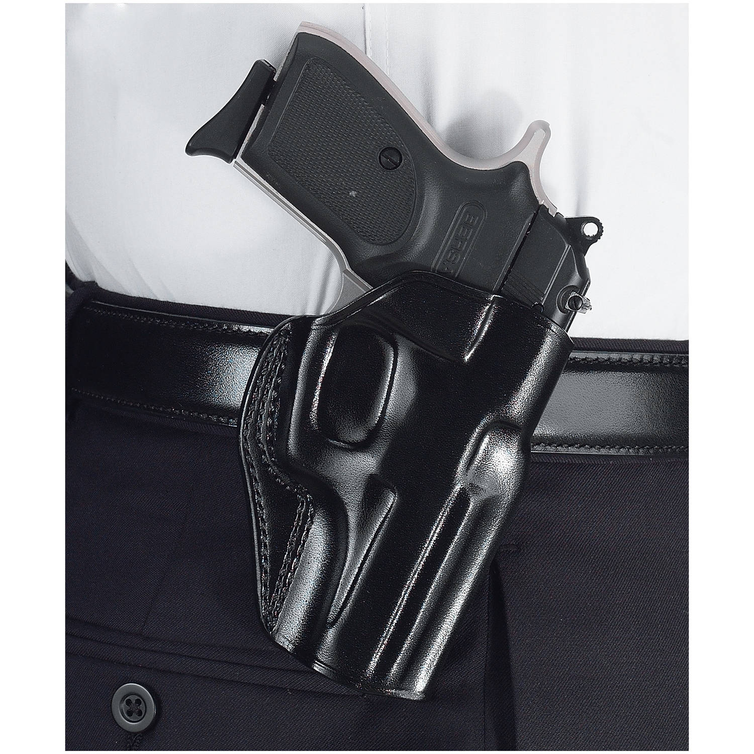 Galco Stinger Belt Holster, Fits Walther P22, Black Leather