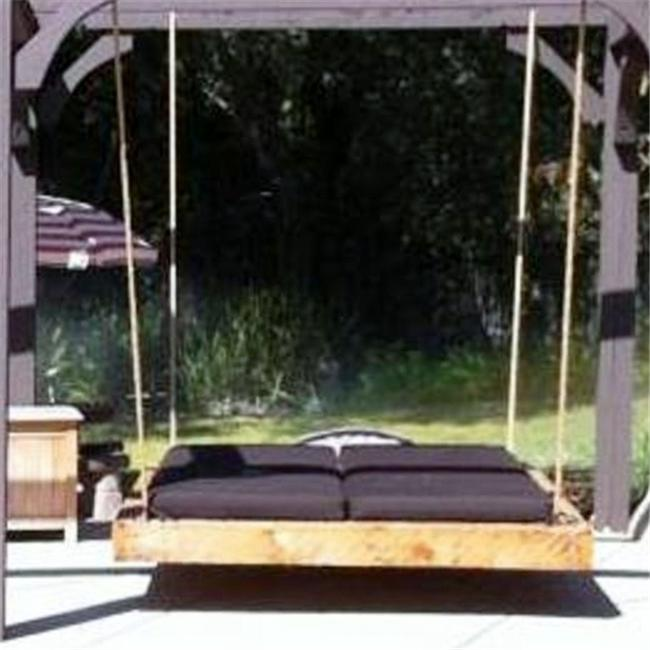 Swing Beds Online NAU-QUEN-CYP-ANT-STN 86 inch Antique Cypress Nautical Swingbed - Stain