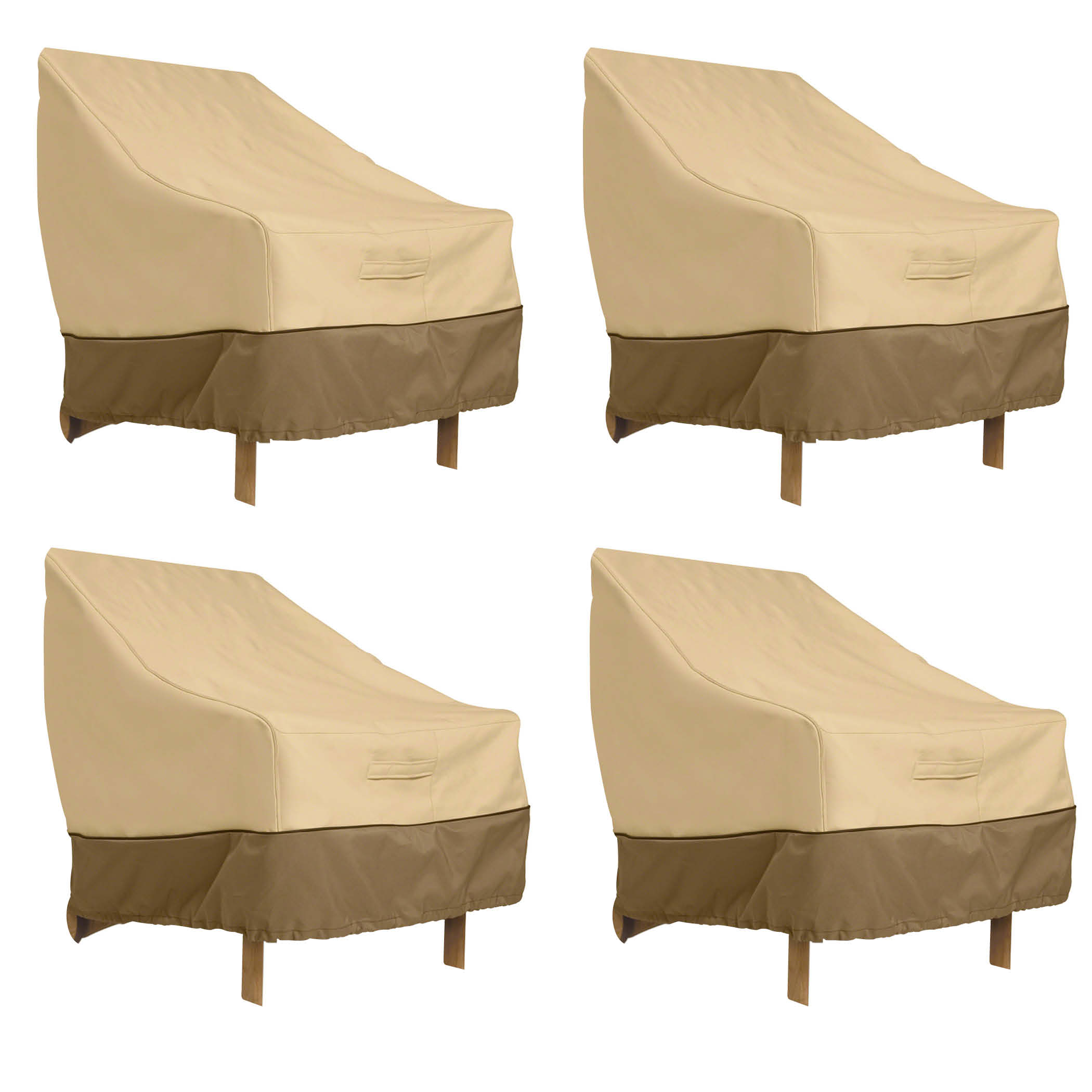 Classic Accessories Veranda High Back Dining Patio Chair Cover - Durable and Water Resistant Patio Cover, 4-Pack