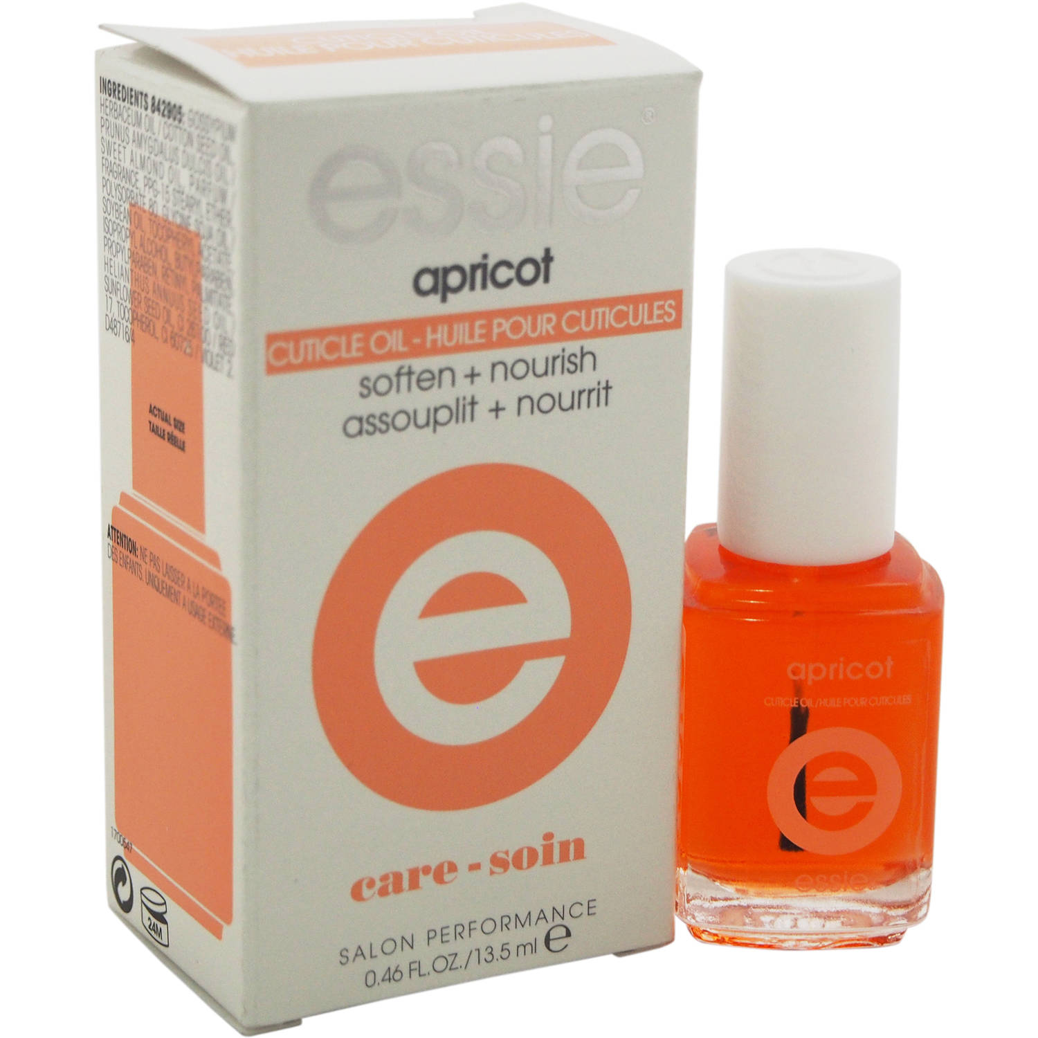 essie for Women Apricot Cuticle Oil Soft + Nourish Nail Care 0.46 oz