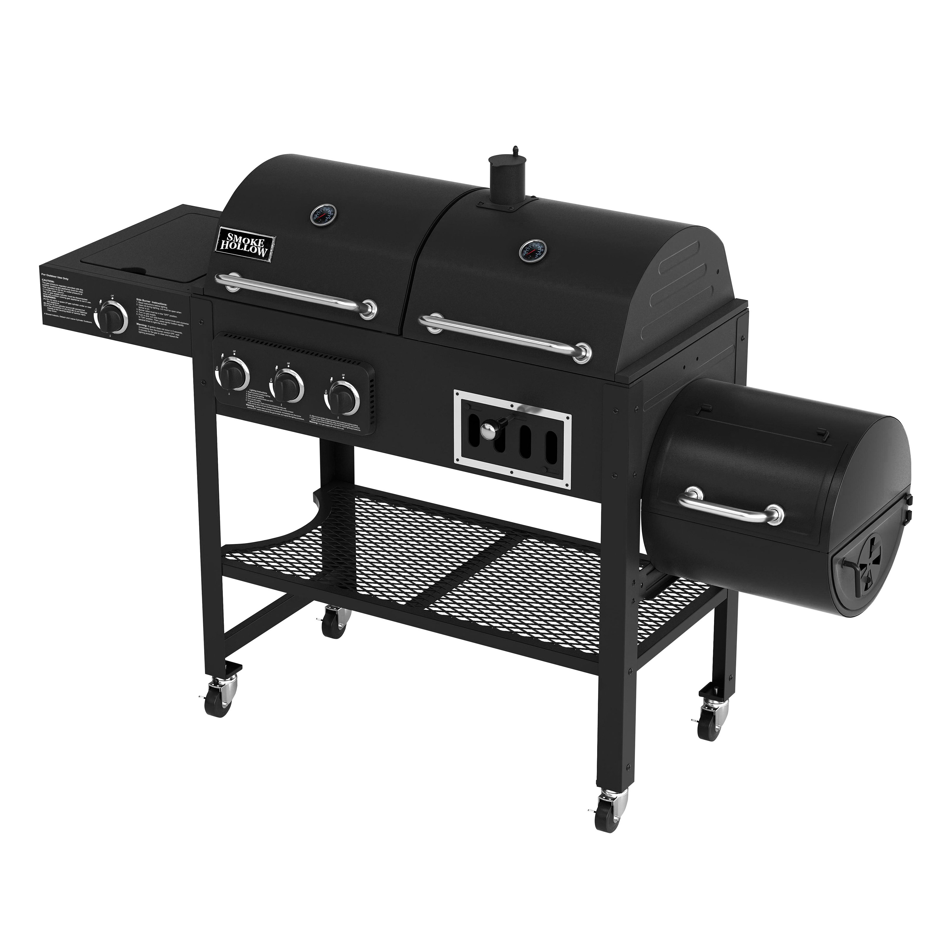Smoke Hollow Gas/Charcoal Smoker Grill 3500