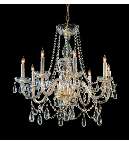 Crystorama 1128-PB-CL-SAQ Eight Light Chandeliers by Crystorama