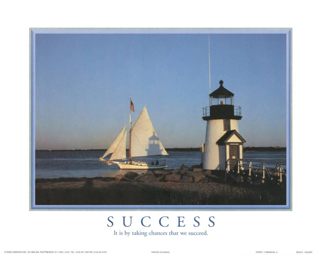 Success It is by Taking Chances that We Succeed Lighthouse Motiv... Mini - Walmart.com