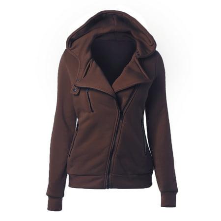 winter jackets for women : Women Autumn Winter Zipper Hoodies Sweatshirt Jacket Long Sleeve Pullover Jumper Hooded Outwear Zip Cardigan Coat Top