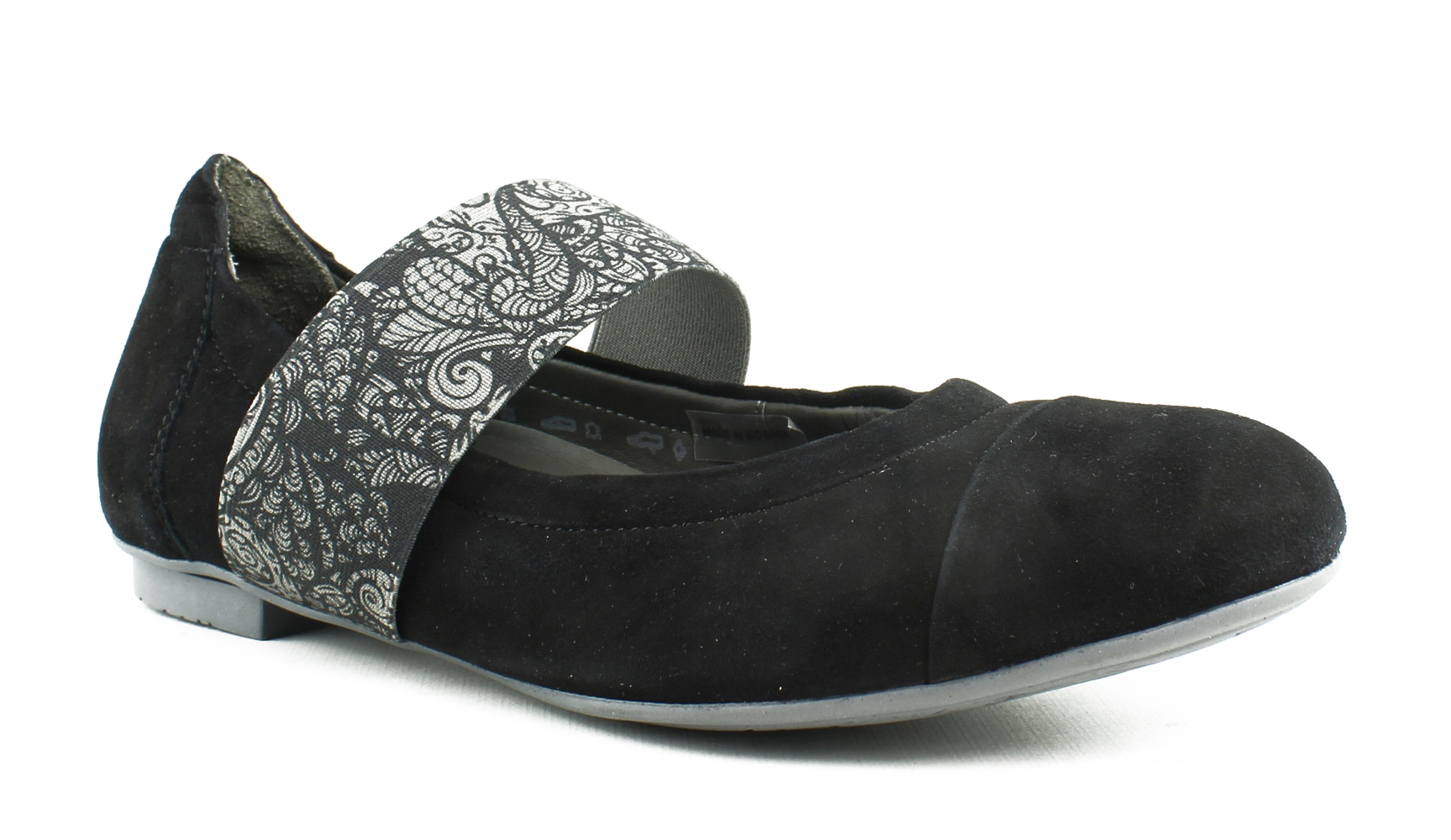New Think! Womens 86168-09-001 Black kombi Ballet Flats Size 5 by Think!