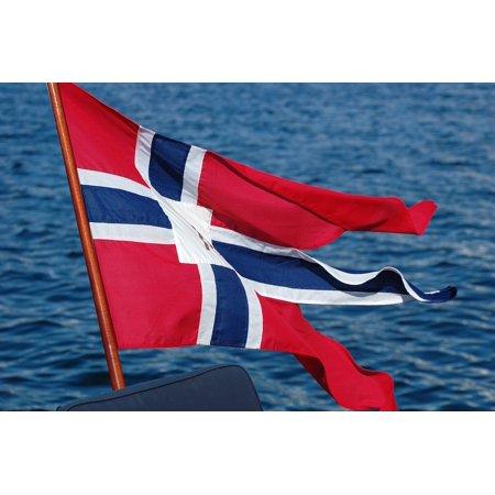 LAMINATED POSTER Flag Norway The Split Flag Btflagg The ...