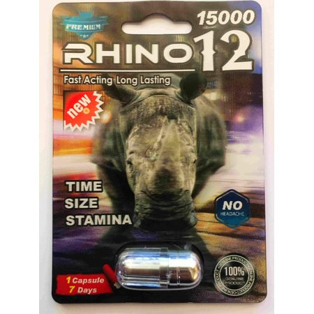 Zinc Sexual Health - Rino 12 Premium 15000 Male Sexual Performance Enhancer (Pack of 1)