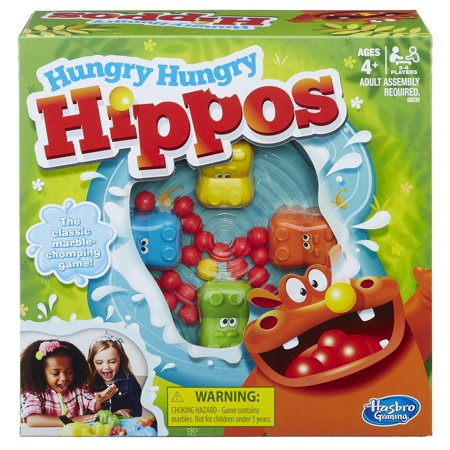 Hungry Hungry Hippos Family Classic Game, Ages 4 and
