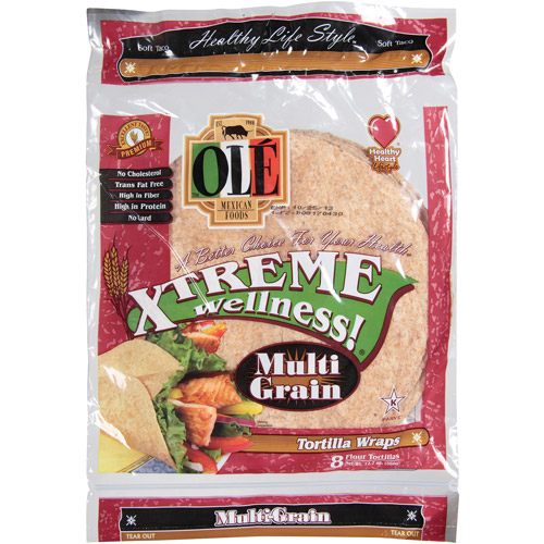Ole Mexican Foods Xtreme Wellness! Multi-Grain Tortilla Wraps, 12.7 oz, (Pack of 6)