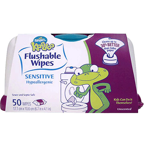 Pampers Kandoo Sensitive Flushable Wipes, 50 count