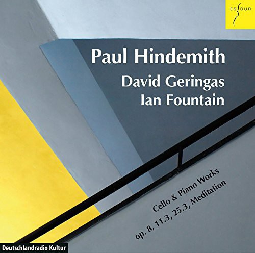 David Geringas (Cello) Ian Fountain (Pi Hindemith: Works for Cello & Piano [CD] by
