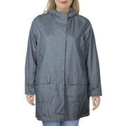 Barbour Womens Lottie Lightweight Trench Coat Raincoat Gray 14