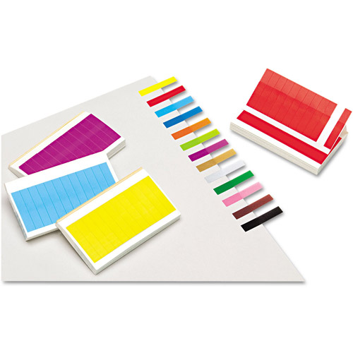 Redi-Tag Removable/Reusable Page Flags, 13 Assorted Colors, 240 Flags