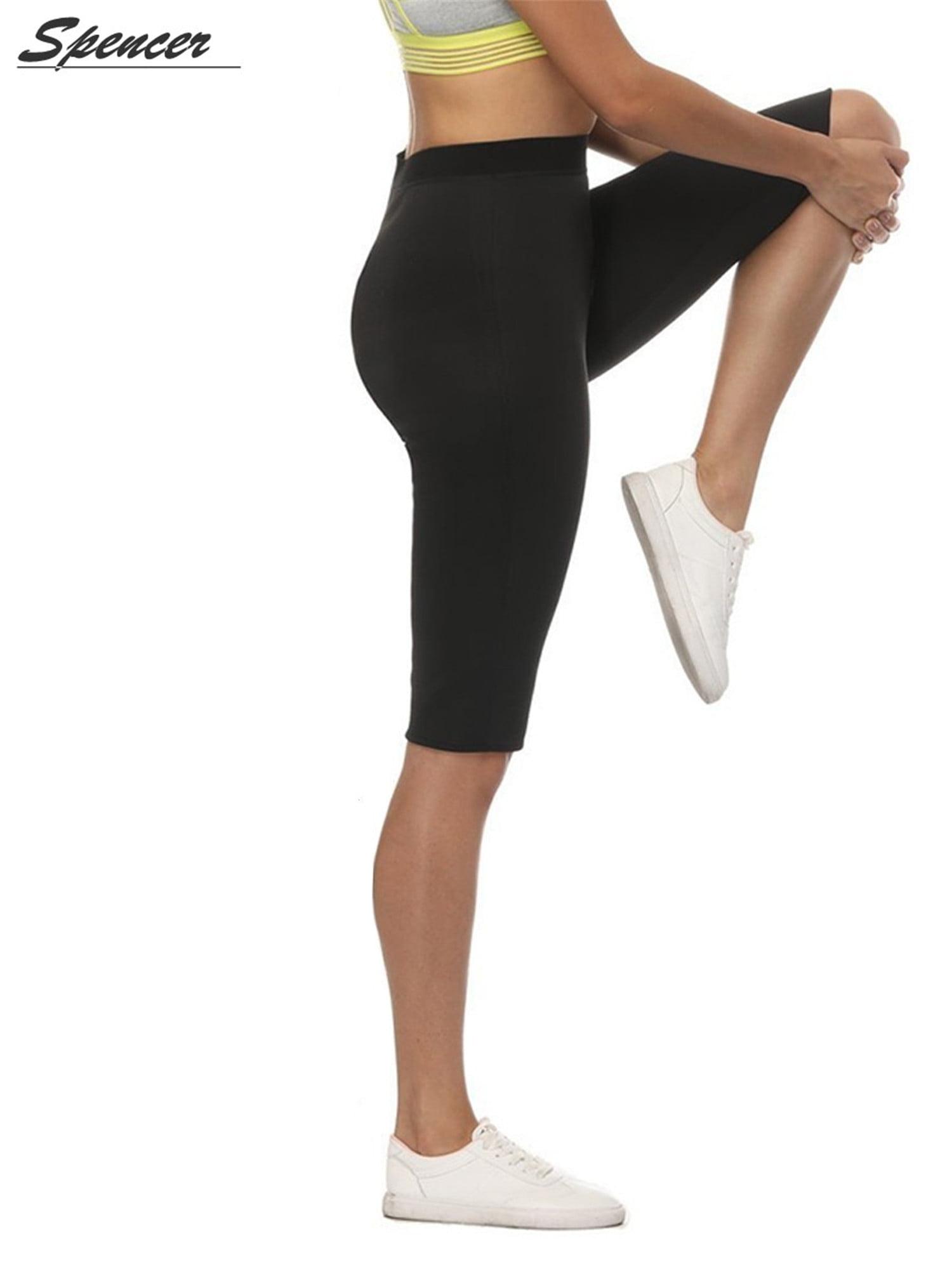 a043ef9cdc318 Spencer - Spencer Women s High Waist Slimming Fat Burning Pants Body  Shapewear Capris Sauna Workout Shaping Pants - Black XL - Walmart.com