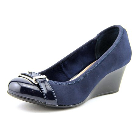 - Alfani Tomina Women  Open Toe Synthetic Blue Wedge Heel