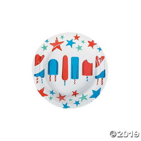 Patriotic Pop Paper Dessert Plates](Patriotic Paper Plates)