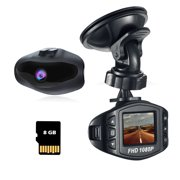 Acumen Dash Cam for Cars with Wide Angle Video Recorder Vehicle Dashboard Camera Exmor Sensor WDR Loop Recording Memory Card Included