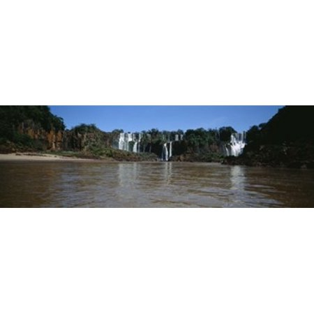 - Waterfall in a forest Iguacu Falls Iguacu National Park Argentina Poster Print