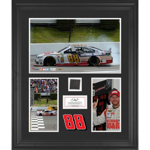 Dale Earnhardt Jr Fanatics Authentic Framed 2014 Pocono 400 at Pocono Raceway Race Winner 3-Photograph Collage with Race-Used Tire-Limited Edition of 400 - No Size