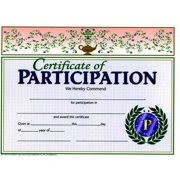 "Hayes Participation Certificate, 8.5"" x 11"", Pack of 30"
