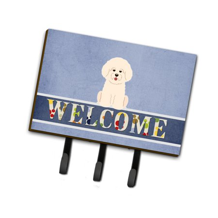 Bichon Frise Welcome Leash or Key Holder BB5656TH68