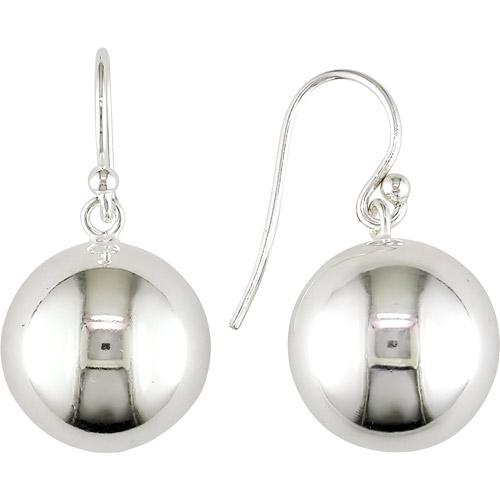 Ball Sterling Silver Hook Earrings