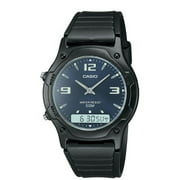 Casio AW49HE-2AV Men's Resin Strap Blue Dial Analog Digital Dual Time Watch