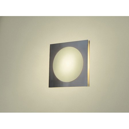 """Wall Sconces 1 Light Fixtures With Brushed Stainless Steel Finish G-9 Bulb 7"""" 75 Watts"""