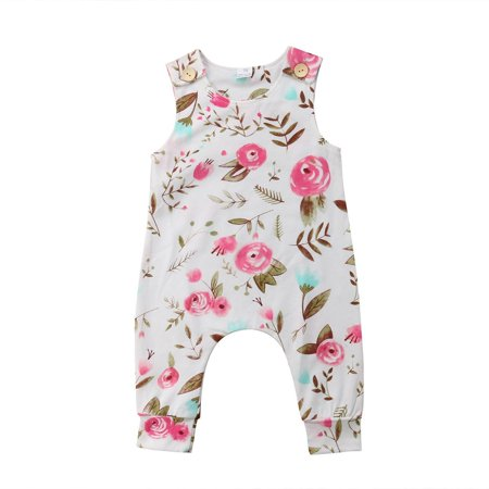 Toddler Infant Baby Outfits Floral Girl Costume Bodysuit Romper Jumpsuit Clothes - image 2 of 5