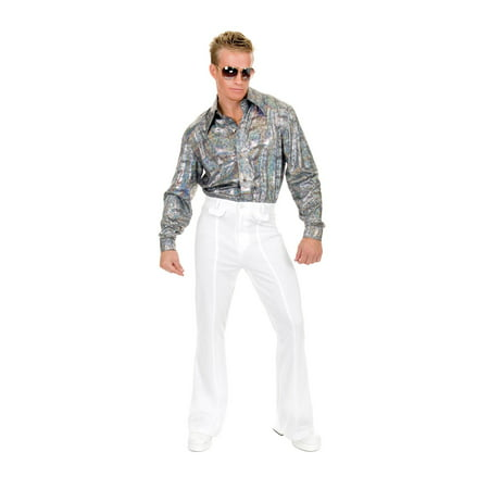 Mens White Disco Pants Halloween - Superman White Costume