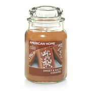 American Home by Yankee Candle Sweet & Salty Caramel, 19 oz Large Jar