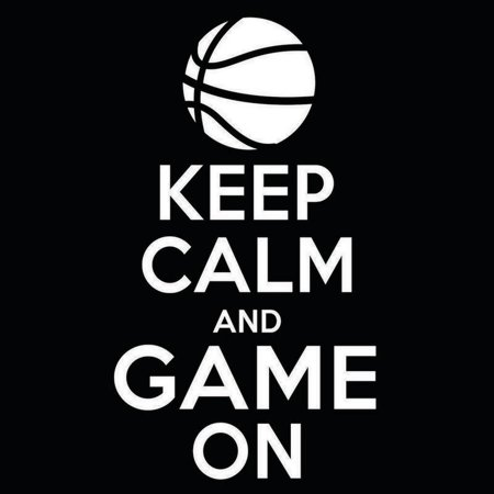 Basketball Keep Calm and Game On Vinyl Decal Sticker | Cars Trucks Vans Windows Laptops Walls Cups | White | 5.5 X 3 Inches | KCD1850 (Car Decals Dragon Ball Z)