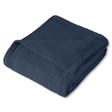 bed bath n more 100-percent Cotton Basket Weave Blanket