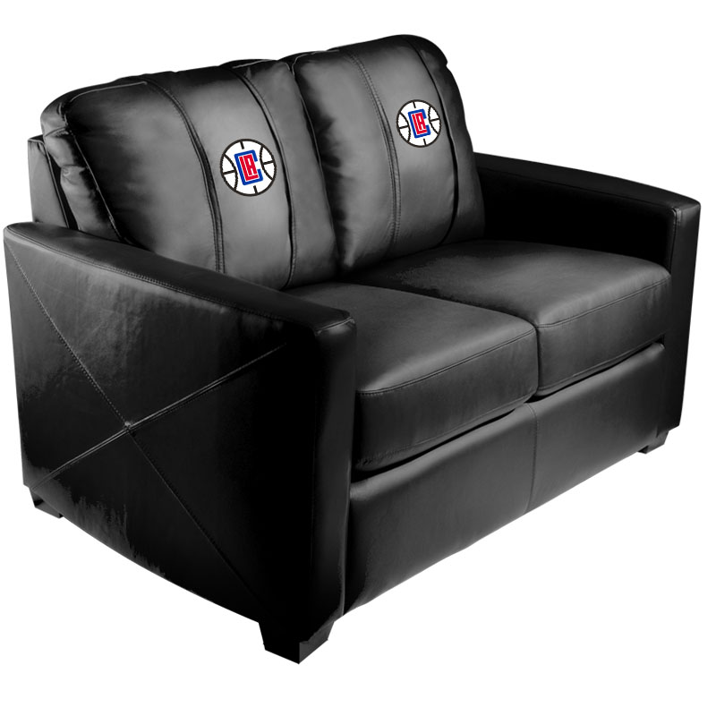 Los Angeles Clippers NBA Silver Love Seat