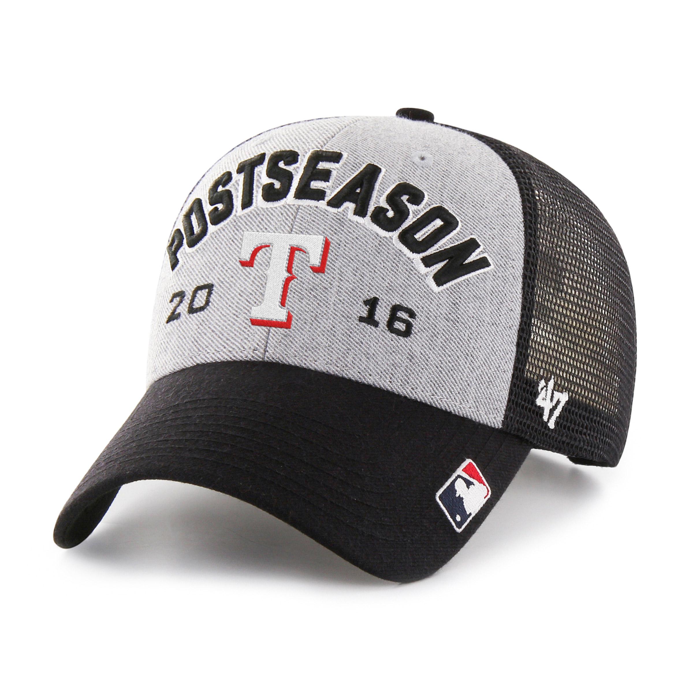 Texas Rangers '47 2016 AL West Division Champions Locker Room Adjustable Hat - Gray/Black - OSFA