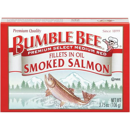 (2 Pack) Bumble Bee Premium Smoked Coho Salmon in Oil, 3.75oz Can ()