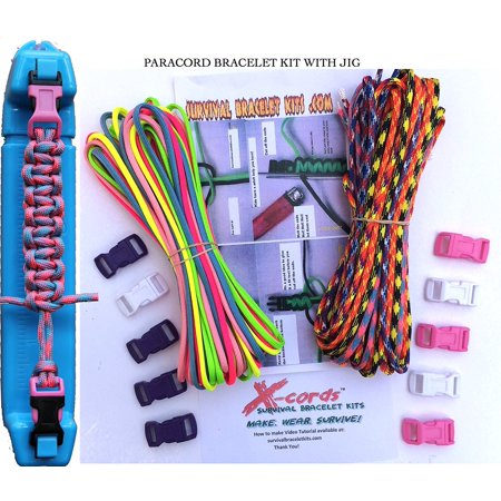 X Cords Paracord Bracelet Kit 550lb Parachute Cord Craft Kits With Instructions And Buckles