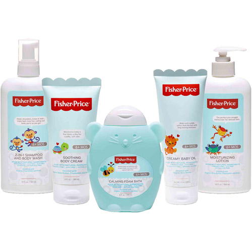 Fisher-Price Infant Bath & Body Variety Gift Set, 5 pc