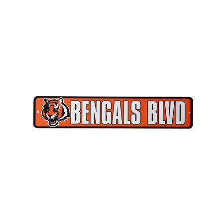 Cincinnati Bengals Blvd NFL Street Sign, Orange White - image 1 de 1