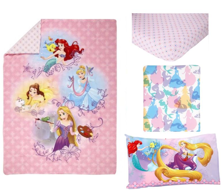 Disney Princess Adventure Rules 4-Piece Toddler Bedding Set by Crown Crafts Infant Products, Inc.