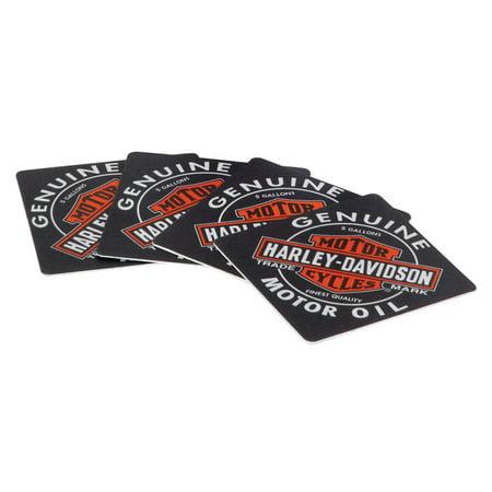 Con Set (Harley-Davidson Genuine Oil Can Coasters, Includes Set of 25 HDL-18540, Harley Davidson)