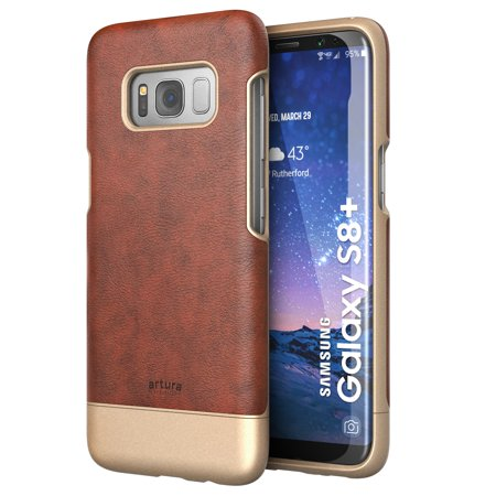 Galaxy S8 Plus (S8+) Premium Vegan Leather Case - Artura Collection By Encased (Samsung S8+) (Chestnut Brown) ()