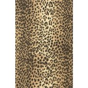 Deluxe Small Business Sales J-2511 7.38 in. x 100 ft. Leopard Jewelers Roll Gift Wrap, Black & Tan