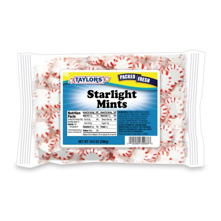 Taylors Candy Starlite Mints Hard Candy, 12 lb, 18 ct