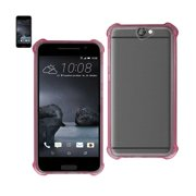 REIKO HTC ONE A9 MIRROR EFFECT CASE WITH AIR CUSHION PROTECTION IN CLEAR HOT PINK