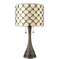 Serena d'italia Contemporary Tiffany 2 light Jeweled 22 in. Table Lamp
